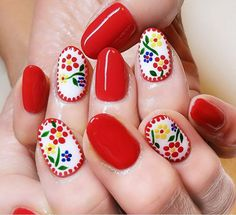 25 Summer Nail Designs - Creative Nail Art for Summer Cute Nails, Cute Nail Art, Pretty Nails, Spring Nails, Summer Nails, Nail Salon Prices, Hair And Nails, My Nails, Mexican Nails