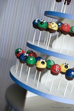 monster party cake pops