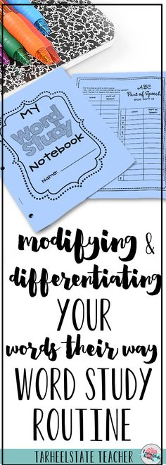 Are you hoping to tweak and improve your word study routines to better meet your students' needs? I've got a few modifications, suggestions, tips, and ideas for differentiation in your Words Their Way word study activities. Those lower and higher spellers often need something a little different and these ideas are useful for 2nd, 3rd, 4th, 5th, and 6th grade classrooms. Plus a link to a FREE word study resource!
