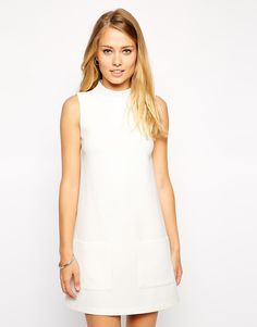 ASOS Shift Dress with High Neck
