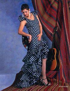 Flamenco/Bata de Cola Dress & Practice Skirt ~ Folkwear Pattern XS-XL