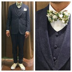 カジュアルウェディング新郎衣装  #新郎衣装 #タキシード #蝶ネクタイ  http://lifestyleorder.com/mens/wedding