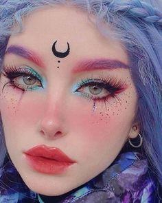 Edgy Makeup, Eye Makeup Art, Cute Makeup, Pretty Makeup, Beauty Makeup, Anime Eye Makeup, Scary Makeup, Makeup Style, Cosplay Makeup