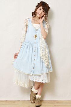 Pastel blue Mori Girl