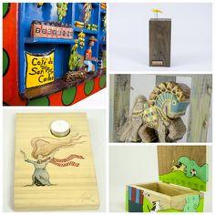 ¡Para la casa!  Opciones en madera para decorar sus espacios favoritos.  Originales y con finos acabados.  Estos y mas en elcajoncito.com #MadeinCostaRica #Madera #Decoracion #Design