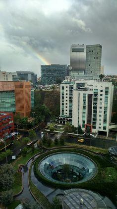 Plaza Samara. Centro comercial Garden. Santa Fe México CDMX Vista desde terraza del corporativo Microsoft México.
