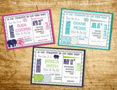 Elephant Baby Shower Invitations: Printable, Red Teal, Yellow Gray, Pink, Navy Pink, Teal Gray, Navy Lime Green by Little Party that Could