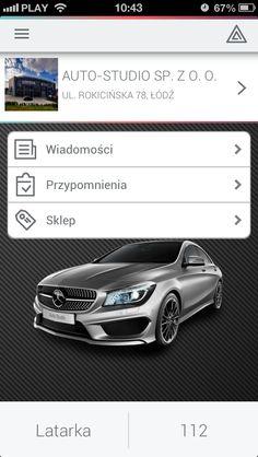 Główny ekran aplikacji dla #Mercedes.  #dealershipapps #mobileapps #aplikacjewebowe