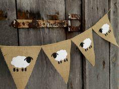 Bannière+de+mouton+agneau+bannière+Pâques+bannière+par+ViViCreative