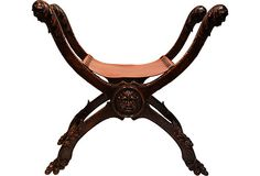 Hand-Carved Curule Bench on OneKingsLane.com. One just like this in our bathroom at the Hotel Baglioni in Firenze.