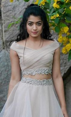 Rashmika Mandana actress thunder thighs sexy legs images and sexy boobs picture and sexy cleavage images and spicy navel images and sexy b. Saree Blouse Neck Designs, Fancy Blouse Designs, Lehenga Designs, Indian Wedding Gowns, Indian Gowns Dresses, Punjabi Wedding, Indian Weddings, Lehnga Dress, Lehenga Blouse