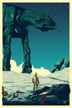 Star Wars: Episode V - The Empire Strikes Back by Derek Payne - Home of the Alternative Movie Poster -AMP-
