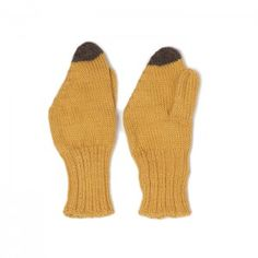 Make winter fun with banana mittens (matching hat and neckie available too!). 100% Baby Alpaca. Handmade in Bolivia by a Fair Trade women's collective, our knitwear combines traditional craftsmanship with modern design. Made with 100% baby alpaca wool, this knit is soft, luxurious, hypoallergenic, and eco-friendly.