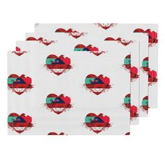 Lamona Cloth Placemats featuring Explosion of love (2) by chausse_shop | Roostery Home Decor