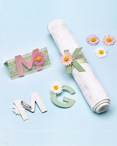 Use Mom's monogram to make place settings on her big day.