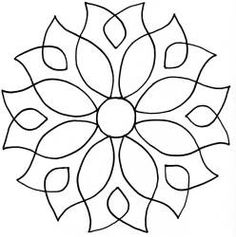 Dandy Dahlia Quilting Stencil by QCI - Free Motion Quilting, Hand Quilting, Machine Quilting, Quilting Stencils, Quilting Designs, Embroidery Patterns, Quilt Patterns, Free Mosaic Patterns, Cd Art