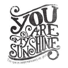 YOU ARE MY SUNSHINE Art Print by Matthew Taylor Wilson | Society6