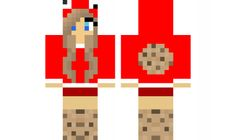 minecraft skin red-cookie-girl
