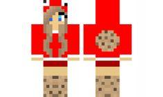 minecraft skin red-cookie-girl