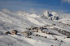 Livigno - Provincia di Sondrio Lombardia              L'abitato di Trepalle in abito invernale (foto R. Moiola)