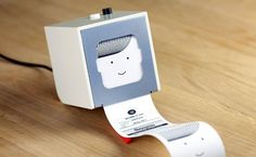 Little Printer lives in your home, bringing you news, puzzles and gossip from friends. Use your smartphone to set up subscriptions and Little Printer will gather them together to create a timely, beautiful mini-newspaper.