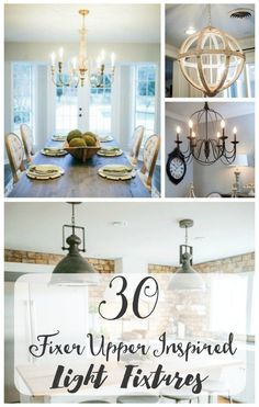 30 Fixer Upper inspired light fixtures| Want to get in on the HGTV Fixer Upper style? I've rounded up 30 light fixtures from Parrot Uncle inspired by Joanna Gaines' signature style. All available online and at all different budgets. Add some farmhouse sty