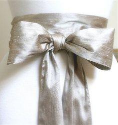 Dupioni silk sash belt wedding sash