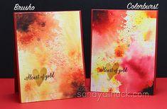 Sandy Allnock Brusho Colorburst Flowers