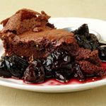 Flourless, Kosher Fallen Chocolate Cake with Cherry Red Wine Sauce. If only I hadn't seen those #LukaMagnotta articles