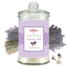 """Vonná svíčka ARosée JC """"Lavender Field"""". Scented soy candle ARosée. Home decor. Domácí dekorace."""