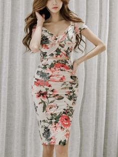 Slim Fork Flower Sexy Dress _Strapless&Tube Dress_DRESSES_Wholesale clothing, Wholesale Clothes Online From China Strapless Dress, Bodycon Dress, Sheath Dress, Tube Dress, Wholesale Clothing, Sexy, Jumpsuit, Vintage, Stylish