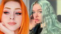 Turuncu ve mavi marjinal stil hoş renkli saçlar   Kadınca Fikir - Kadınca Fikir