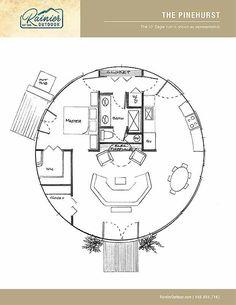 Build a yurt with Rainier yurt home floor plans Round House Plans, Tree House Plans, House Floor Plans, Tree House Designs, Small House Design, Building A Yurt, Yurt Home, Octagon House, Yurt Living