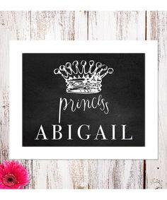 Love this 'Princess' Personalized Chalkboard Print by BirdRow on #zulily! #zulilyfinds