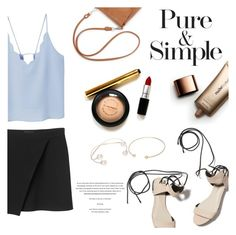 """afternoon"" by raniaghifaraa ❤ liked on Polyvore featuring MANGO, Monki, 3.1 Phillip Lim, Pure & Simple, Nude by Nature and Lipsy"