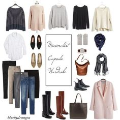 Minimalist Capsule Wardrobe - Winter 2015 by bluehydrangea on Polyvore featuring Mode, Vince Camuto, Madewell, Vince, Gap, J.Crew, Siviglia, MANGO, H&M and Cole Haan