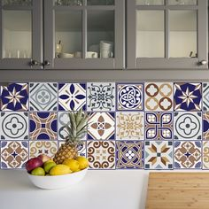 Classic Mosaic Tile 48 Piece Wall Sticker Set World Menagerie All You Need Is, Mosaic Tiles, Wall Tiles, Tile Stairs, Vine Wall, Butterfly Wall Stickers, Window Decals, Kitchen Tiles, Tile Patterns