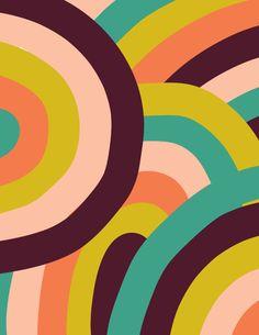 Vintage Flowers Wallpaper, Pastel Wallpaper, Wallpaper Backgrounds, Retro Pattern, Pattern Art, Trippy Designs, Motif Vintage, Aesthetic Painting, Color Stories