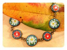 piccolomosaico - daisy bracelet - Murano glass micromosaic