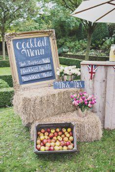 Menu and hay bale display
