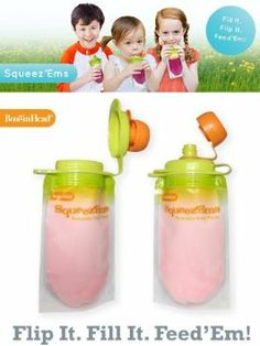 BooginHead Squeez'Ems Reusable Food Pouches