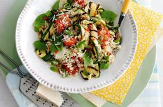 A simple Griddled courgettes with minty couscous recipe for you to cook a great…