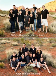 Large group picture Do's and Don'ts