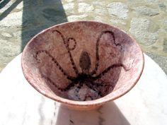 big salad bowl with octopus decoration purple by objectsceramics, €70.00