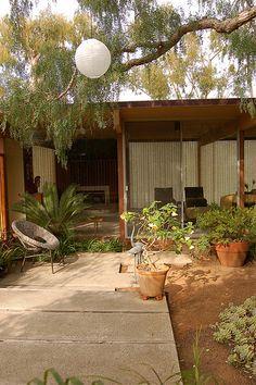 Courtyard - Mid-Century Modern House
