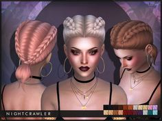 The Sims 4 najlepsze mody do gry: Nightcrawler-Lush fryzura Sims 4 Mods, My Sims, Sims Cc, Sims 4 Tsr, Maxis, Play Sims 4, 4 Braids, Side Braids, The Sims 4 Cabelos