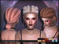 Lush hair by Nightcrawler at TSR via Sims 4 Updates