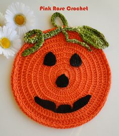 \ PINK ROSE CROCHET /: Pega  Panelas Halloween.  Crochet Pot Holders