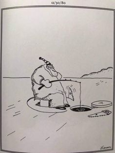 """The Far Side"" by Gary Larson. Far Side Cartoons, Far Side Comics, Funny Cartoons, Funny Comics, Funny Jokes, Hilarious, Funny Shit, Farm Cartoon, Cartoon Fish"