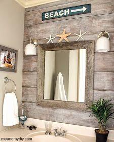 wood paneling idea for beach bathroom